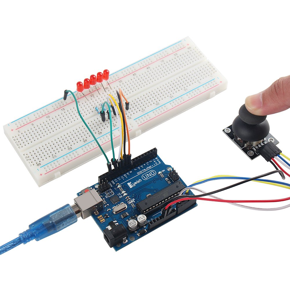 Keywish Super Rfid Sensor Starter Kit With Tutorial 28 Lessons For Figure 2 A Breadboard Diagram The Rain Detector Circuit Arduino Uno R3 Water Level Siol Humidity Lcd1602 Screen