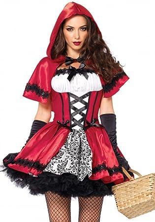 Rebellisches Rotkappchen Damen Kostum Von Leg Avenue Gothic Red