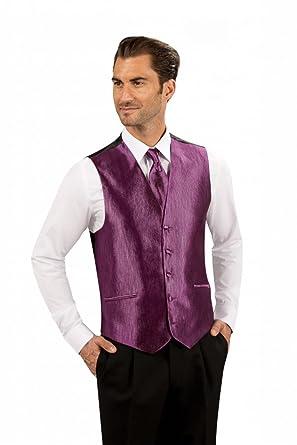 Gilet costume Pourpre 5 boutons 2 Poches passepoilées pour Marié - Pourpre  - M  Amazon.fr  Vêtements et accessoires c3b32fce7ec