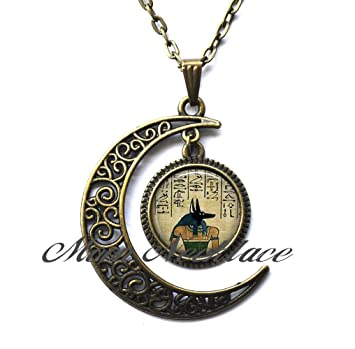 Moon necklace crescent moon necklace simple necklaceanubis moon necklace crescent moon necklace simple necklaceanubis pendant anubis necklace aloadofball Images