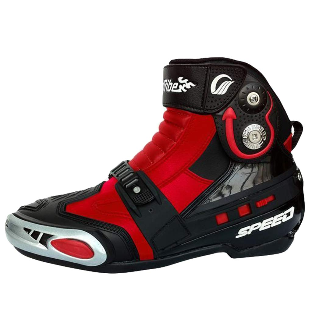 wthfwm Botas Cortas de protecci/ón para el Tobillo de la Motocicleta para Hombres Zapatos Botas de Enduro para Carretera Botas acorazadas para Moto Botas Deportivas de Carreras