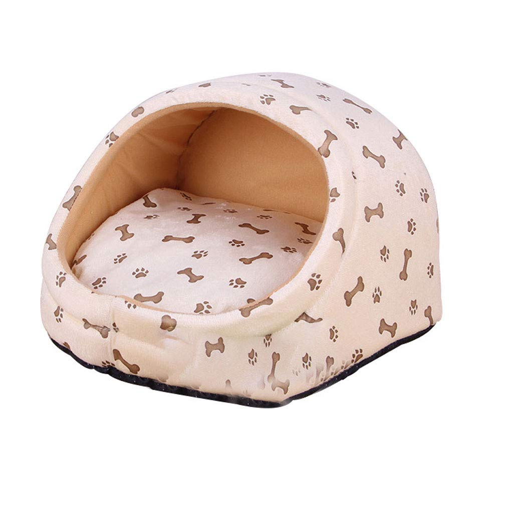 F Large F Large Soft And Warm Dog Bed Room Winter Cat Bed Puppy House Kennel Detachable Puppy Cushion Pet Kennel Bed (color   F, Size   L)