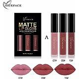 BBsmile 3PCS New Fashion Waterproof Matte Liquid Lipstick Cosmetici Lip Gloss Set 3 colori Lip Gloss Set