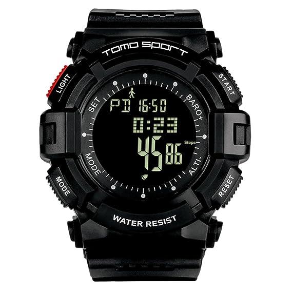 Elegante relojes,Deportes al aire libre relojes diseño casual impermeable multifuncional electrónico-B: Amazon.es: Relojes