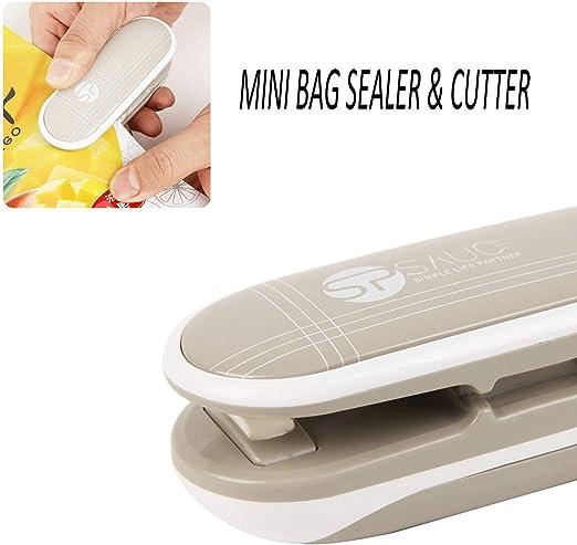 Amazon.com: Mini sellador de bolsas 2 en 1 sellador de calor ...