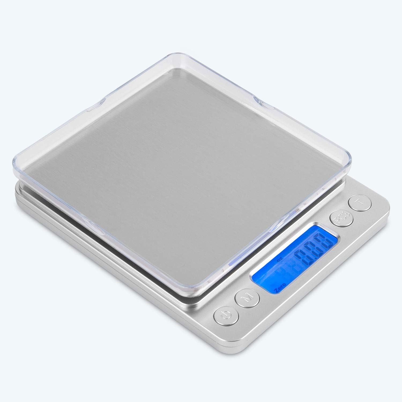 Mafiti MK200 Báscula Digital para Cocina de Acero Inoxidable, 3kg,Balanza de Alimentos Multifuncional, Peso de Cocina, Color Plata