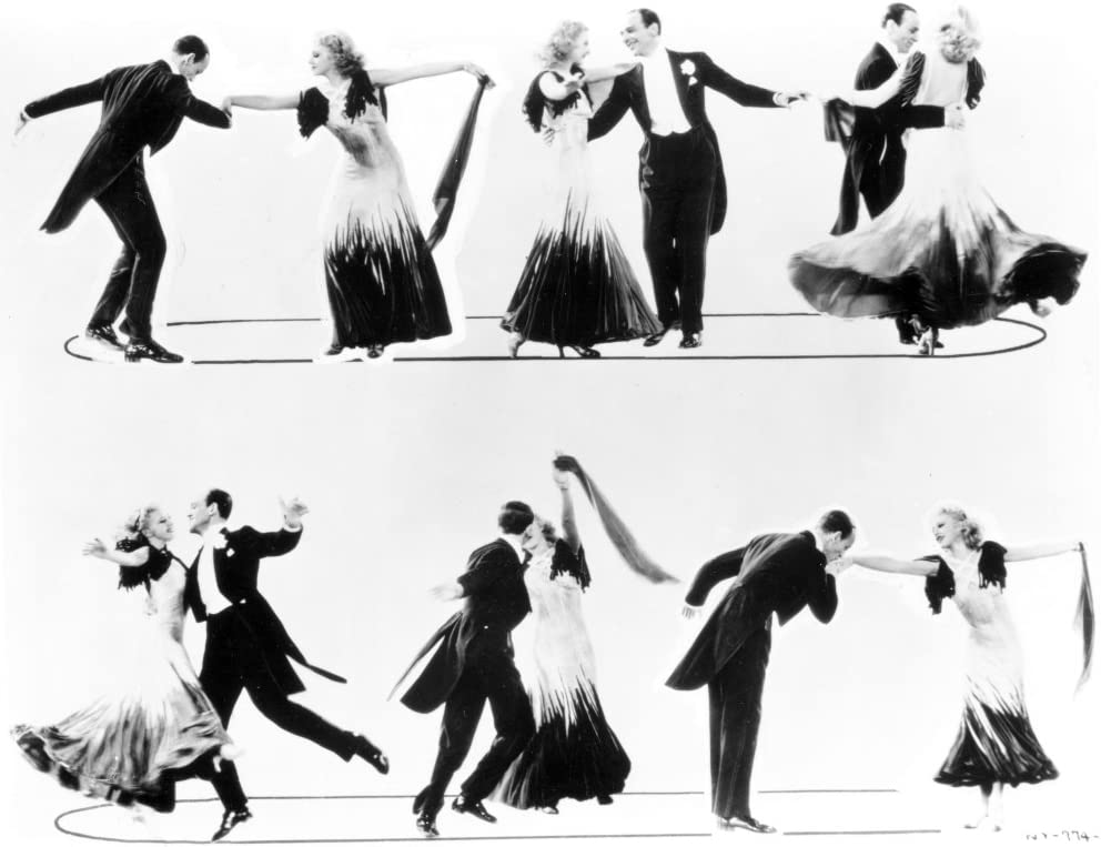 Amazon Com Fred Astaire And Ginger Rogers Dancing On Stage Photo Print 30 X 24 Home Kitchen