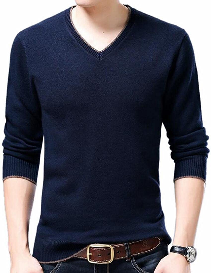 Xswsy XG Mens Color Block Long Sleeves Half Zipper Knit Sweater Pullover
