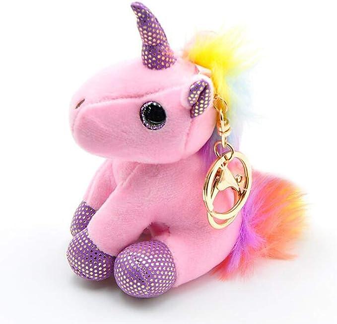 Amazon.com: Llavero de unicornio de peluche de Smilesky, con ...