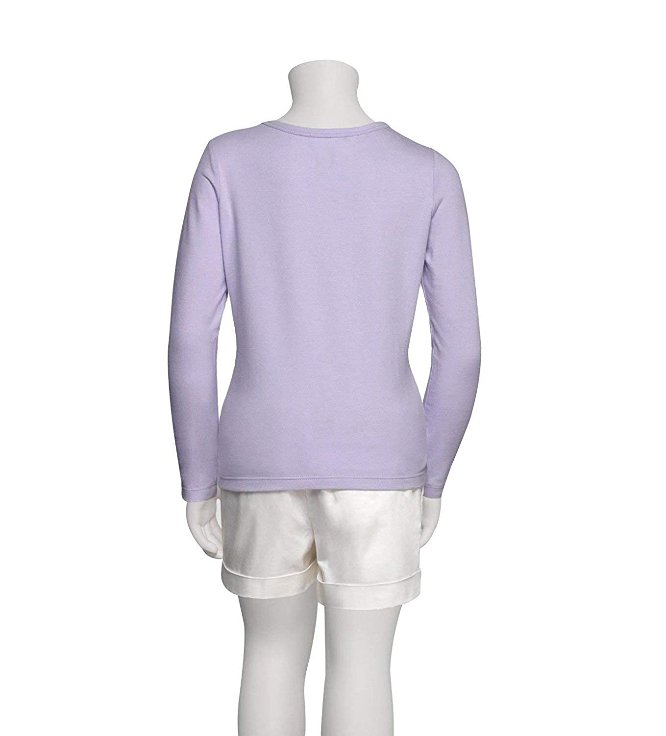 162a8804fcb Amazon.com  Gucci Kid s Lilac Cotton Elastane Butterfly Embroidery Long  Sleeve Top T Shirt 258571  Clothing
