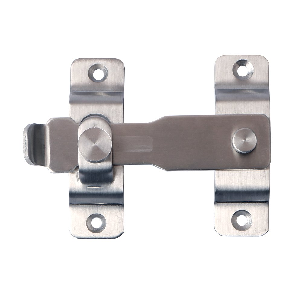 Alise Heavy Duty Flip Latch Gate Latches Bar Latch Safety Door Lock with Fixed Screw,MS8001 Stainless Steel Brushed Finish by Alise