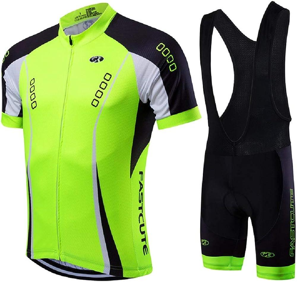 21Grams Conjunto de Ropa de Ciclismo para Hombre Maillot Ciclismo Culotte Ciclismo Top Camisetas de Ciclismo Bicicleta MTB Secado R/ápido Transpirable