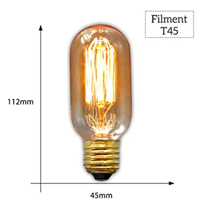 Hntoolight Vintage Edison Ampoule E27 220 V Retro Lampe 40 Wampoule