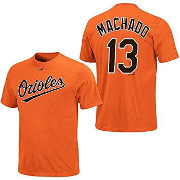 Manny Machado Baltimore Orioles Orange Youth Jersey Name And Number T Shirt X Large