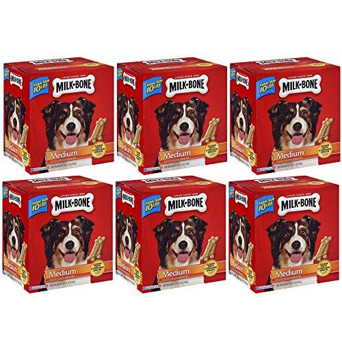 .Milk-Bone Original Dog Treats for Medium Dogs, 10-Pound, 6-