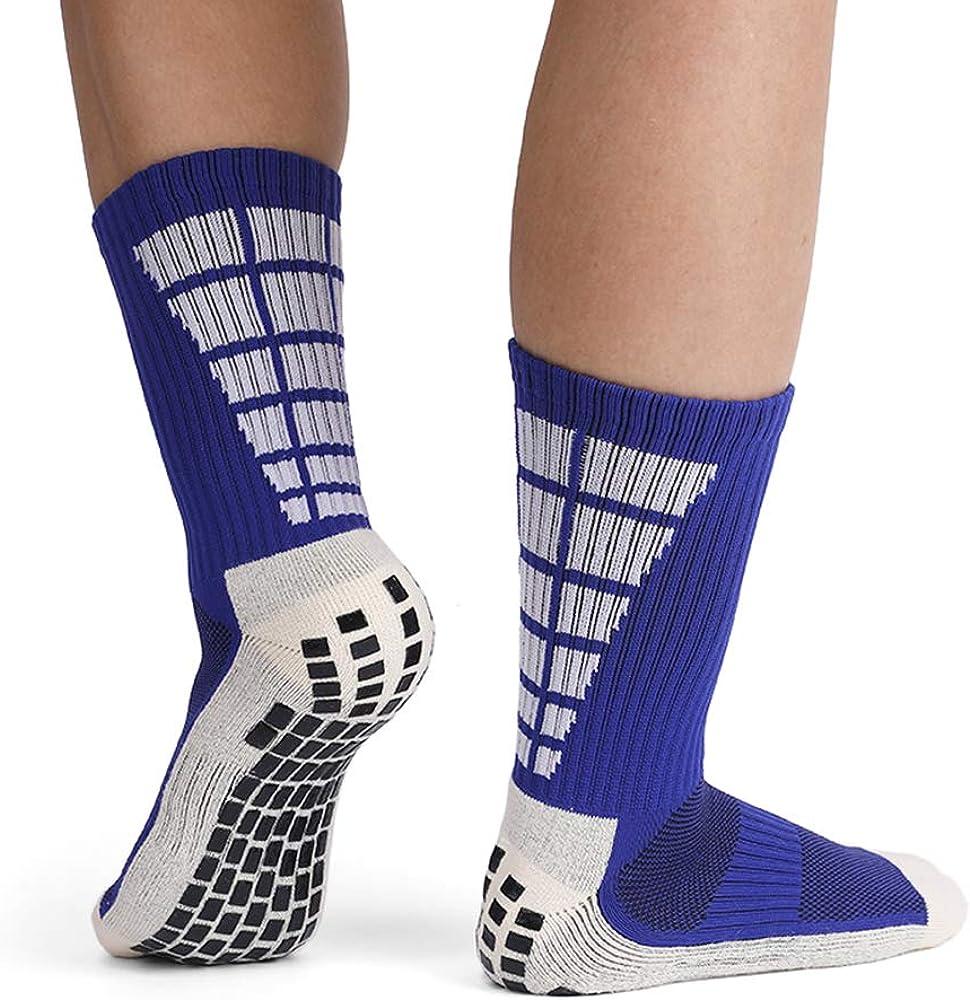 3 Paar Lixada Herren Anti-Rutsch Fu/ßballsocken Sport Soccer High Tube Socken 1 Paar
