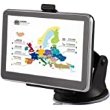 Tsing Navigation Device Europe Traffic Sat Nav with Free Lifetime Maps, 4G 5.0 Inch) Display, Europe 45 countries