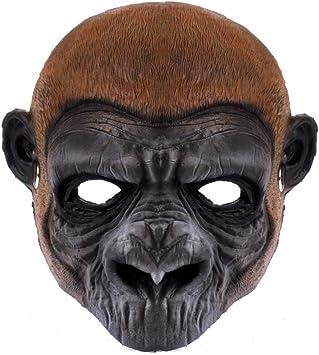 NUOBESTY máscara de orangután de Halloween chimpancé máscara de ...
