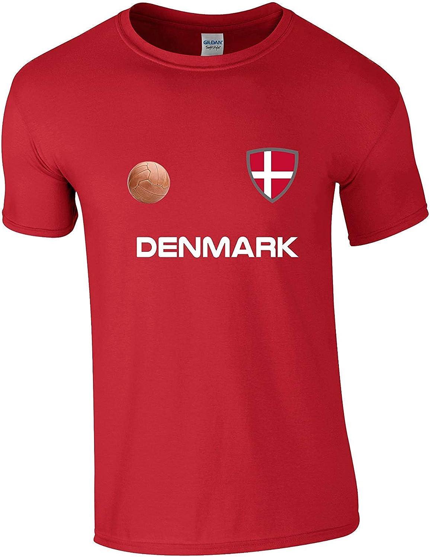 DENMARK World Cup 2018 Mens T-Shirt FOOTBALL New Style Retro