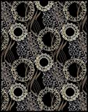 Large Area Rugs for Living Room 8x10 Black Rugs For Dining Room 8x11 Clearance Under 100