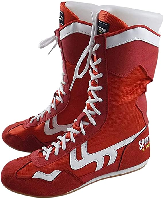 Sport Pioneer High Top Boxing Shoes Boxer Boots for Men Women Kids