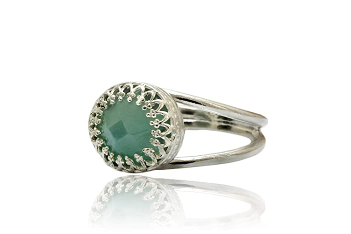 Amazon Com 925 Sterling Silver Ring Aquamarine Ring March