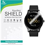 [6-PACK] RinoGear for Fossil Q Marshal Screen Protector [Active Protection] Full Coverage Flexible HD Invisible Clear Shield Anti-Bubble