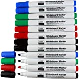 Laser Sharp White Board Marker Pens Pack of 24 - Erasable NonToxic WhiteBoard Markers - 6 Each - Red Blue Black Green Whiteboard Marker Pens for kids students schools colleges offices Economy Pack