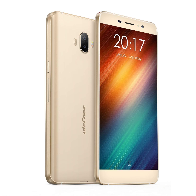 Ulefone S8 - Smartphone Libre 3G, 5.3' HD 1280 x 720, Android 7.0, 16GB ROM+2GB RAM, MT6580 Quad Core 1.3Ghz, Cá mara de 13MP/5MP, Baterí a 3000mAh,Dual SIM (Dorado) 5.3 HD 1280 x 720 Cámara de 13MP/5MP Batería 3000mAh