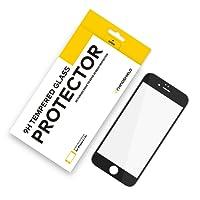 RhinoShield Protection Verre trempé pour iPhone 6 / iPhone 6s - Résistance aux Rayures 9H - Protection 3D courbée - Recouvre Tout l'écran et résiste aux Rayures - Garantie sans Bulle - Blanc