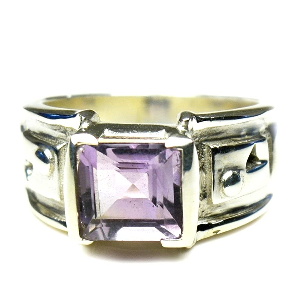 Gemsonclick Real Amethyst Statement Rings for Gifts 925 Sterling Silver Chakra Healing Jewelry Size 4-13