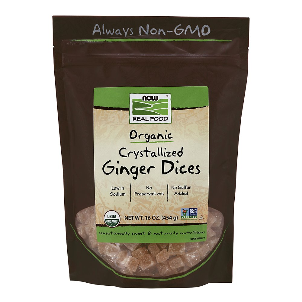 NOW Foods Ginger Dices, 1-Pound (Pack of 2)