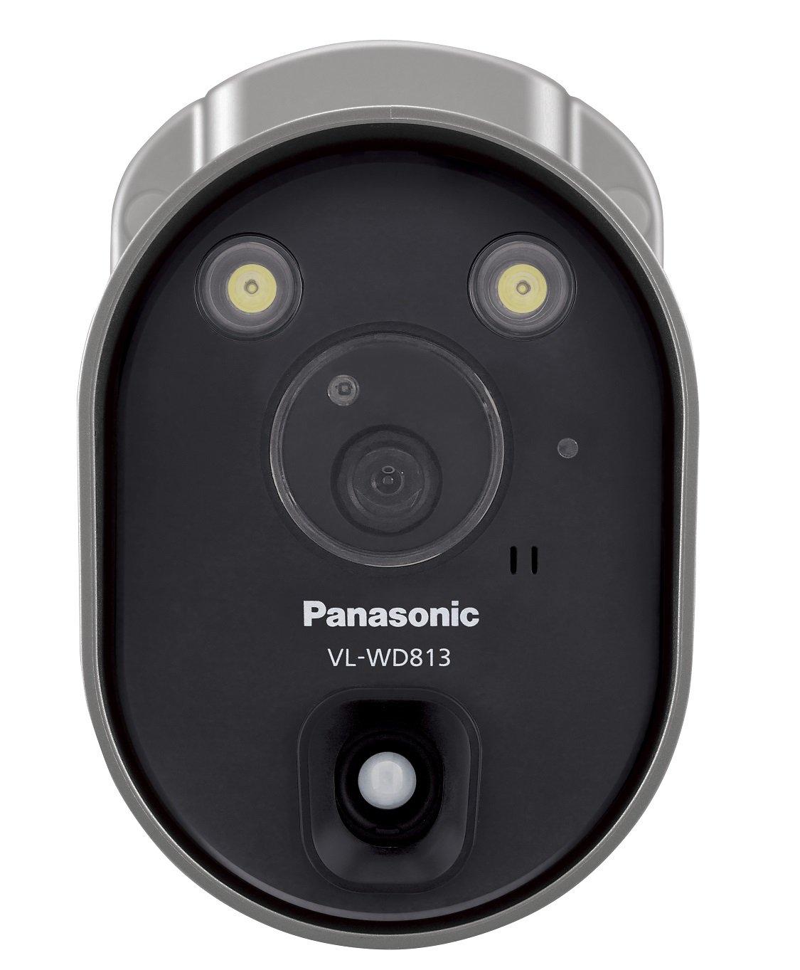 パナソニック(Panasonic) センサーライト付屋外ワイヤレスカメラ 電源コード式 VL-WD813K B01M704DOD
