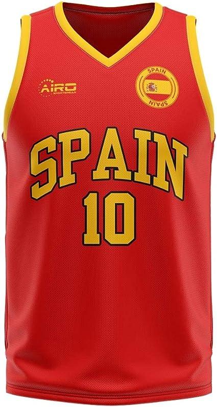 Airosportswear Spain Home Concept - Camiseta de Baloncesto para bebé, Infantil, Blanco, 3-6 Meses: Amazon.es: Deportes y aire libre