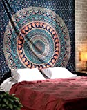 RAJRANG Boho College Dorm Decor Beach Throw Tapestries - Indian Cotton Decorative Wall Hanging Tapestry Bohemian Elephant Tapestries 90 x 84