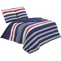 Buymax - Bettwäsche Set Renforce mit Reißverschluss 2-3 teilig Bettgarnitur Baumwolle Öko-Tex