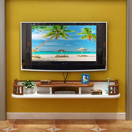 XXHDYR Armazón de pared Mueble de televisión Estante para televisor Estante para televisor Estante para televisor Unidad de almacenamiento de consola flotante Estante para estante de almacenamiento Ca: Amazon.es: Hogar
