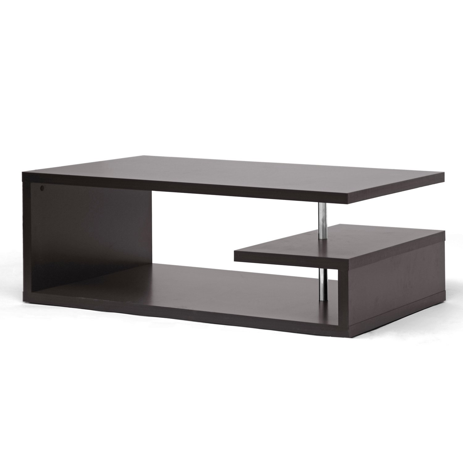 amazon com baxton studio lindy modern coffee table dark brown