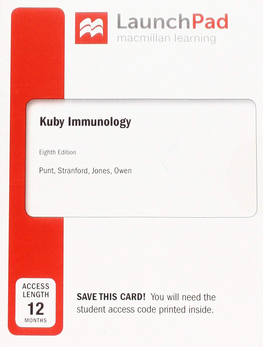 LaunchPad for Kuby Immunology (12 Month Access Card): International  Edition: Amazon.co.uk: Jenni Punt, Sharon Stranford, Patricia Jones, Judy  Owen: ...