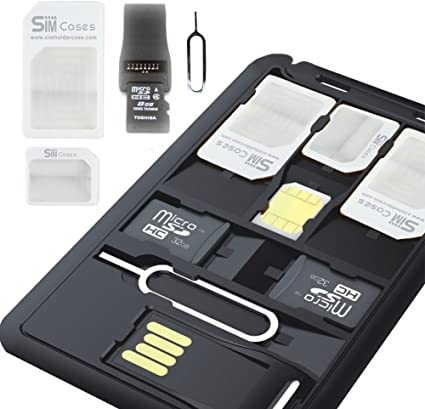 Amazon.com: Slim SIM Card Holder & Caso de almacenamiento + ...