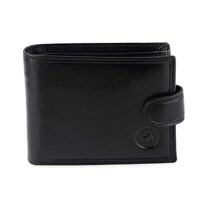 économiser e7264 a45c5 Portefeuille à l'italienne, portefeuille homme, en cuir noir N1283 Cadeau  utile