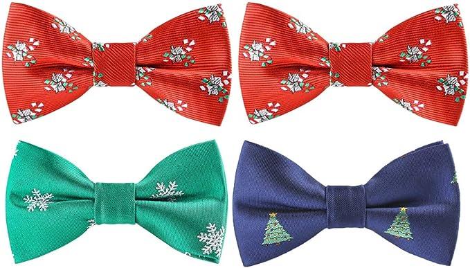NUOBESTY 4 piezas niños corbata de lazo elástica poliéster dibujos ...