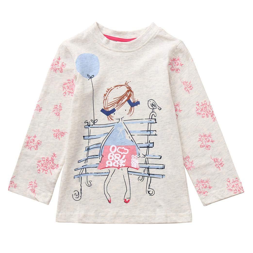 aebf76117438 Amazon.com  Pollyhb Baby Girl Long Sleeve T Shirt