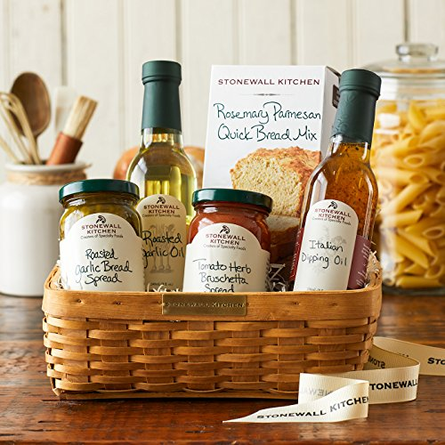 Stonewall Kitchen Gift Collection and Sets - Multiple Options (5 Piece Antipasto Gift Basket) (Most Popular Gift Baskets)