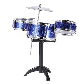 Amazon Com Ammoon Children Kids Desktop Drum Set 3 Drums Musical