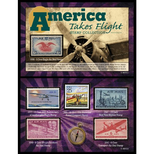 American Coin Treasures America Takes Flight Stamp Collection Wright Brothers First Powered Flight