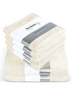 Herzbach inicio lujo toalla Set Premium calidad procedentes de 100% Algodón 4 toallas 50x100 cm