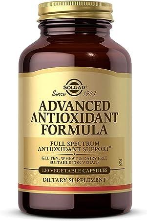 Solgar Fórmula Antioxidante Avanzada, Protege a las Células Contra el Daño Oxidativo Diario, 1...