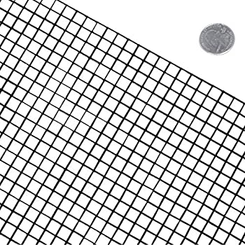 Amazon fencer wire 16 gauge black vinyl coated welded wire mesh fencer wire 16 gauge black vinyl coated welded wire mesh size 05 inch by 05 inch 4 ft x 100 ft greentooth Images
