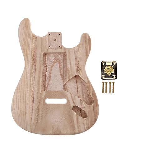 Homyl Cuerpo de Guitarra Inacabada Placas Tornillos Junta para Principiantes Producción Musical